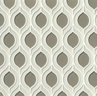 Mallorca Glass White Linen / Roca Leaf Tile GLSMALWHLROCTOR