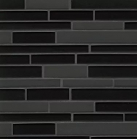 Manhattan Midnight Interlocking Tile GLSMANMIDRIGMC
