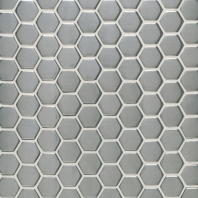 "Metalica 1"" Hexagon Mosaic Brushed Stainless Steel SS50"