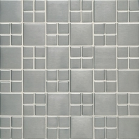 Metalica Square Combo Mosaic in Brushed Stainless Steel SS50