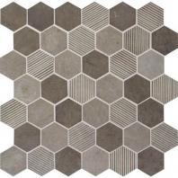Limestone Moselle Gris Blend 2 Hexagon Mosaic L346