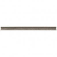 Limestone Moselle Gris 3/4x12 Modern Pencil Rail Honed L346