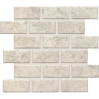 Limestone Arctic Gray 2x4 Beveled Mosaic Honed L757
