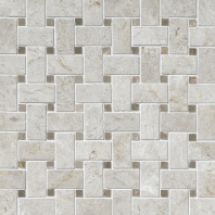 Limestone Arctic Gray 1x2 Basketweave Mosaic Polished L757