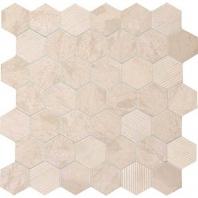 """Limestone Adour Creme 2"""" Hexagon Mosaic L340"""