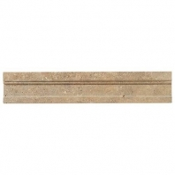 Limestone Corton Sable 2 1/4x12 Modern Chair Rail Honed L343