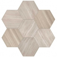 Limestone Chenille White 18x21 Hexagon Honed L191