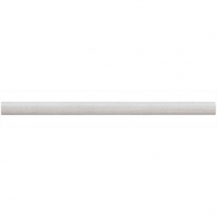Limestone Chenille White 3/4x12 Classic Pencil Rail Honed L191