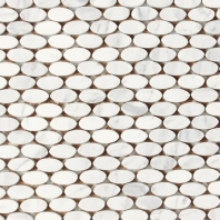 Stone A La Mode Contempo White Oval Mosaic Polished M313