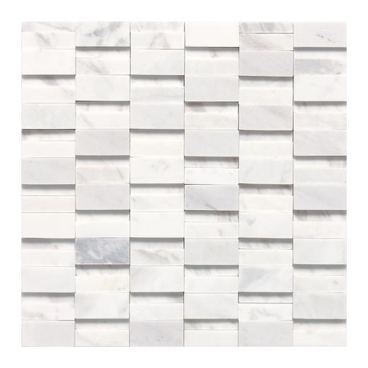 Daltile Stone A La Mode Contempo White Random Brick Mosaic