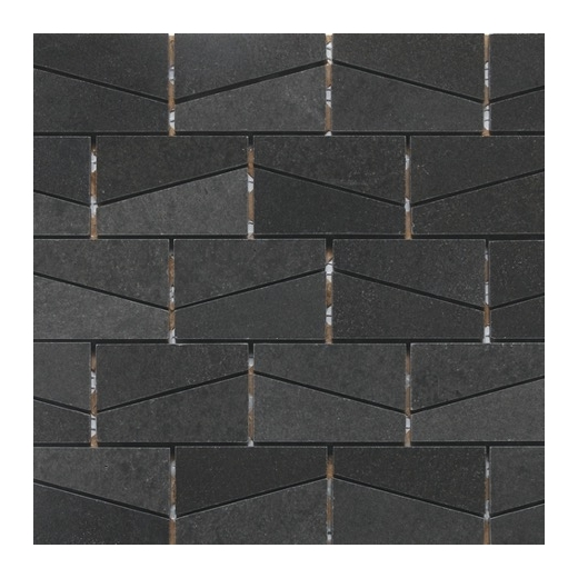 Stone A La Mode Urban Bluestone Polished 2x3 Wedge Mosaic L222