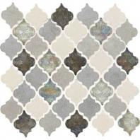 Decorative Accents Gris Et Blanc Baroque Arabesque Mosaic DA19