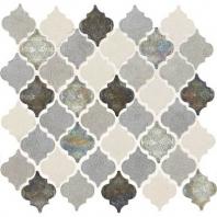 Decorative Accents Gris Et Blanc Baroque Arabesque Mosaic DA19