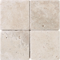 Travertine 4x4 Baja Cream Tumbled T720