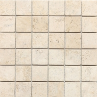 Travertine Baja Cream 2x2 Mosaic Tumbled T720