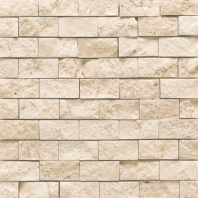 Travertine Baja Cream 1x2 Split Face Mosaic T720