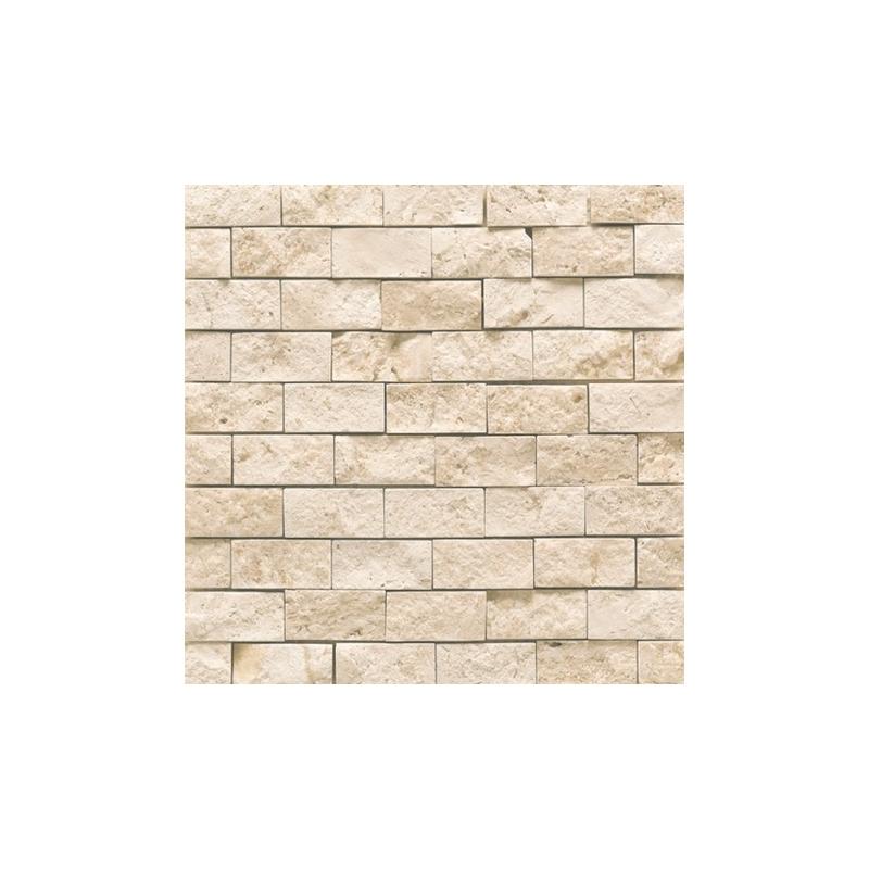 Split-Faced Philadelphia Travertine 1 X 2 Mosaic Tile
