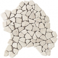 Travertine Baja Cream Pebble Mosaic Tumbled T720