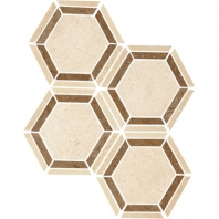 Travertine Torreon 6 Hexagon Mosaic Honed T711