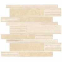 Travertine Torreon Modern Linear Mosaic T711