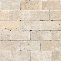Travertine Mediterranean Ivory 3x6 Subway Tile Tumbled T730