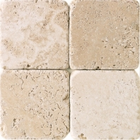 Travertine Mediterranean Ivory 6x6 Tumbled T730
