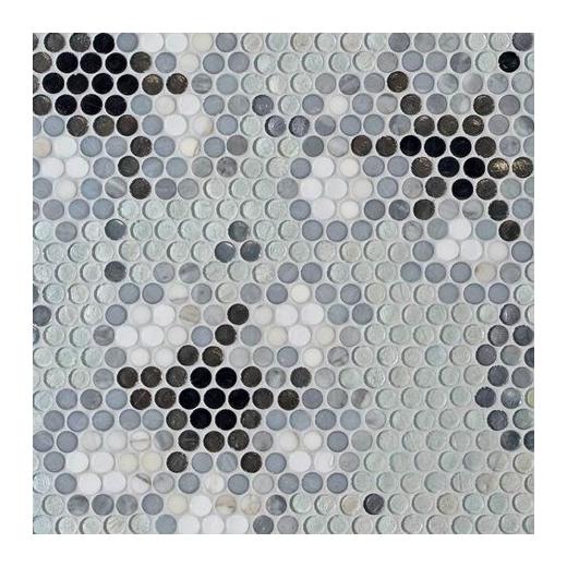 City Light Carina London 1/2 x 1/2 Penny Round Mosaic CL58