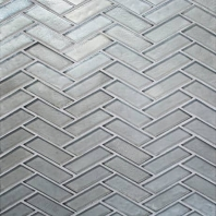 Illuminary Silverlight Herringbone Mosaic IL03
