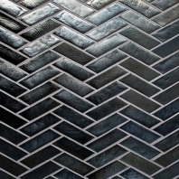 Illuminary Pewter Herringbone Mosaic IL06