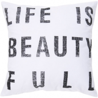 Surya Graphic Throw Pillow- Typography ST-081