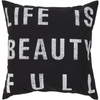 Surya Graphic Throw Pillow- Typography ST-082