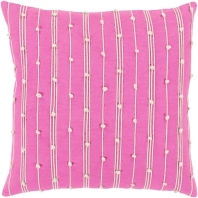 Surya Accretion Pink Textured Stripe Coastal Throw Pillow ACT003