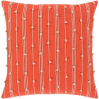 Surya Accretion Orange Textured Stripe Coastal Throw Pillow ACT005