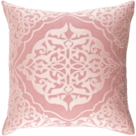 Surya Adelia Pink Medallions and Damask Throw Pillow ADI002