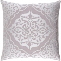 Surya Adelia Gray Medallions and Damask Throw Pillow ADI003