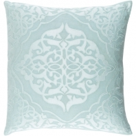 Surya Adelia Blue Medallions and Damask Throw Pillow ADI004