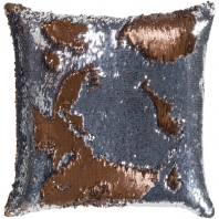 Surya Andrina Silver Sequin Texture Throw Pillow ADN002