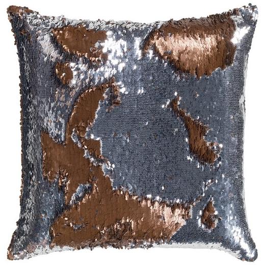 Surya Andrina Silver Sequin Texture Throw Pillow ADN002