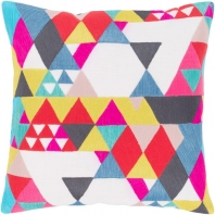 Surya Ardent Multicolor Geometric Mid-Century Throw Pillow ADT001
