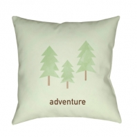 Surya Adventure White Nature Scandinavian Throw Pillow ADV001