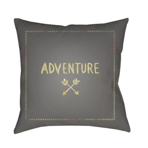 76a9d61a597f9 Surya Adventure II Gray Scandinavian Throw Pillow ADV003