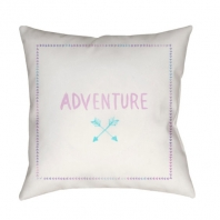 Surya Adventure II White Scandinavian Throw Pillow ADV004