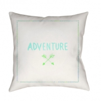 Surya Adventure II White Scandinavian Throw Pillow ADV005