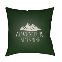 Surya Adventure III Green Scandinavian Throw Pillow ADV006