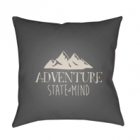 Surya Adventure III Gray Scandinavian Throw Pillow ADV007