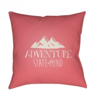 Surya Adventure III Pink Scandinavian Throw Pillow ADV008