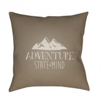 Surya Adventure III Brown Scandinavian Throw Pillow ADV009