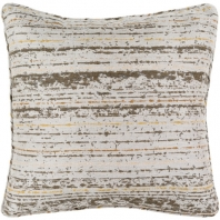 Surya Arie Brown Stripe Throw Pillow AE001