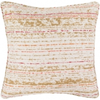Surya Arie Orange Stripe Throw Pillow AE002