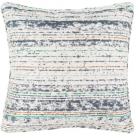 Surya Arie Blue Stripe Throw Pillow AE003